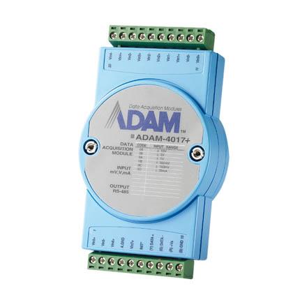 研华8通道模拟量输入模块ADAM-4017+